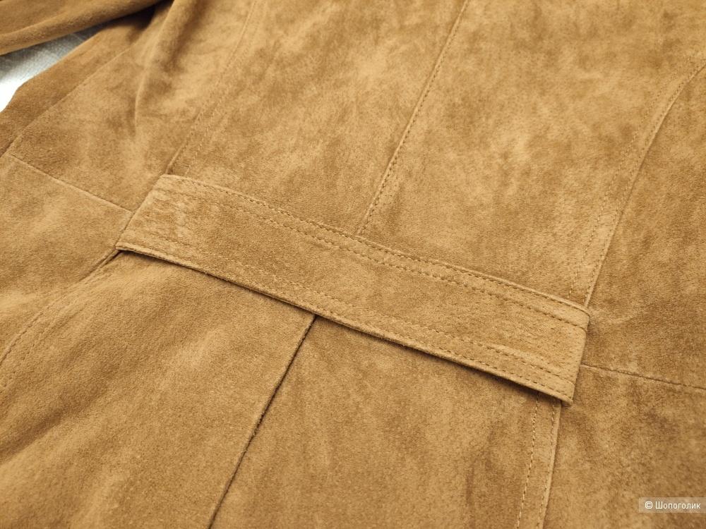 Замшевое пальто Zara XS-S