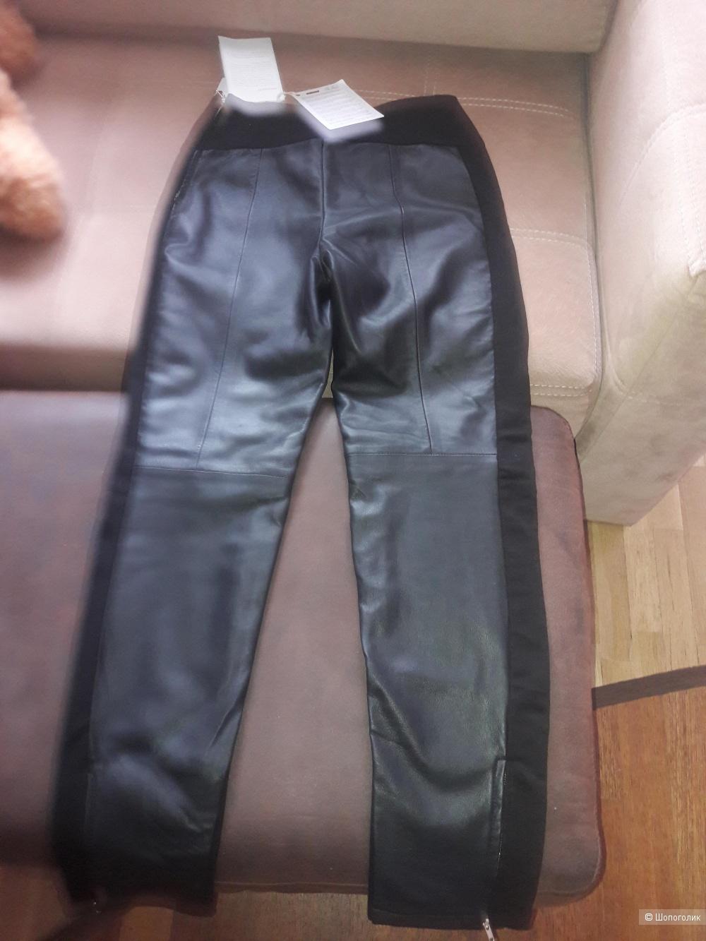 Кожаные брюки легинсы Patrizia Pepe 44-46 размера