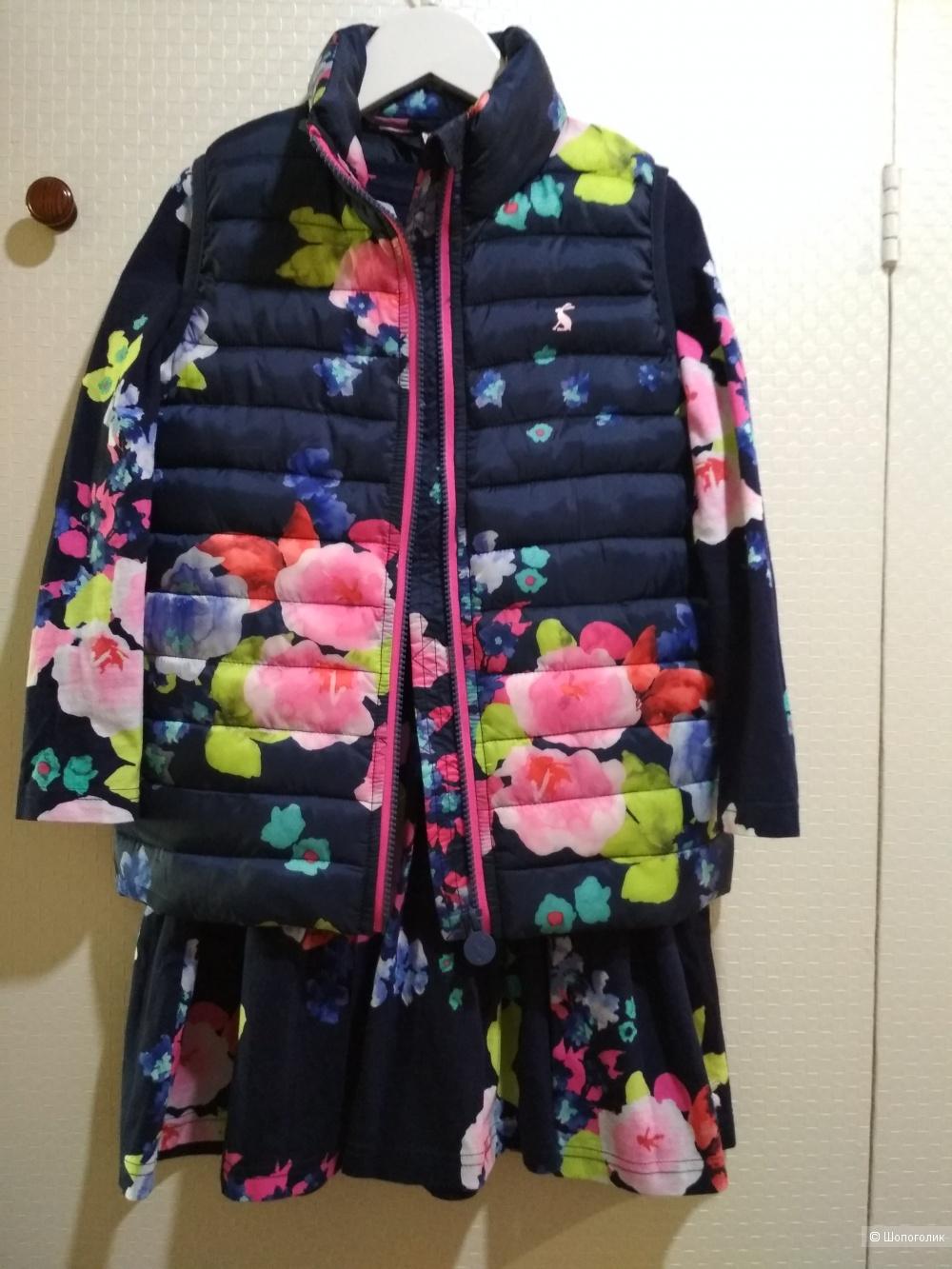 Сет платье и жилет joules размер 6 лет