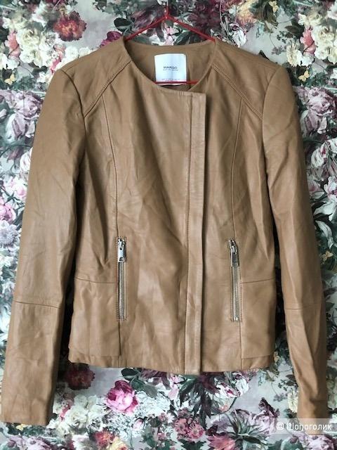 Кожаная куртка Mango, р. XS-S