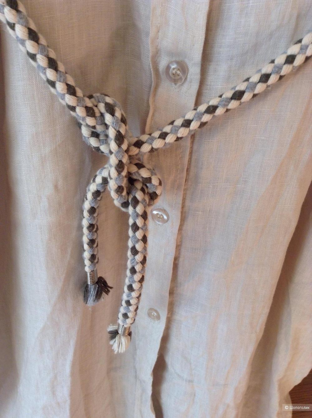 Льнянон платье-халат, размер 46