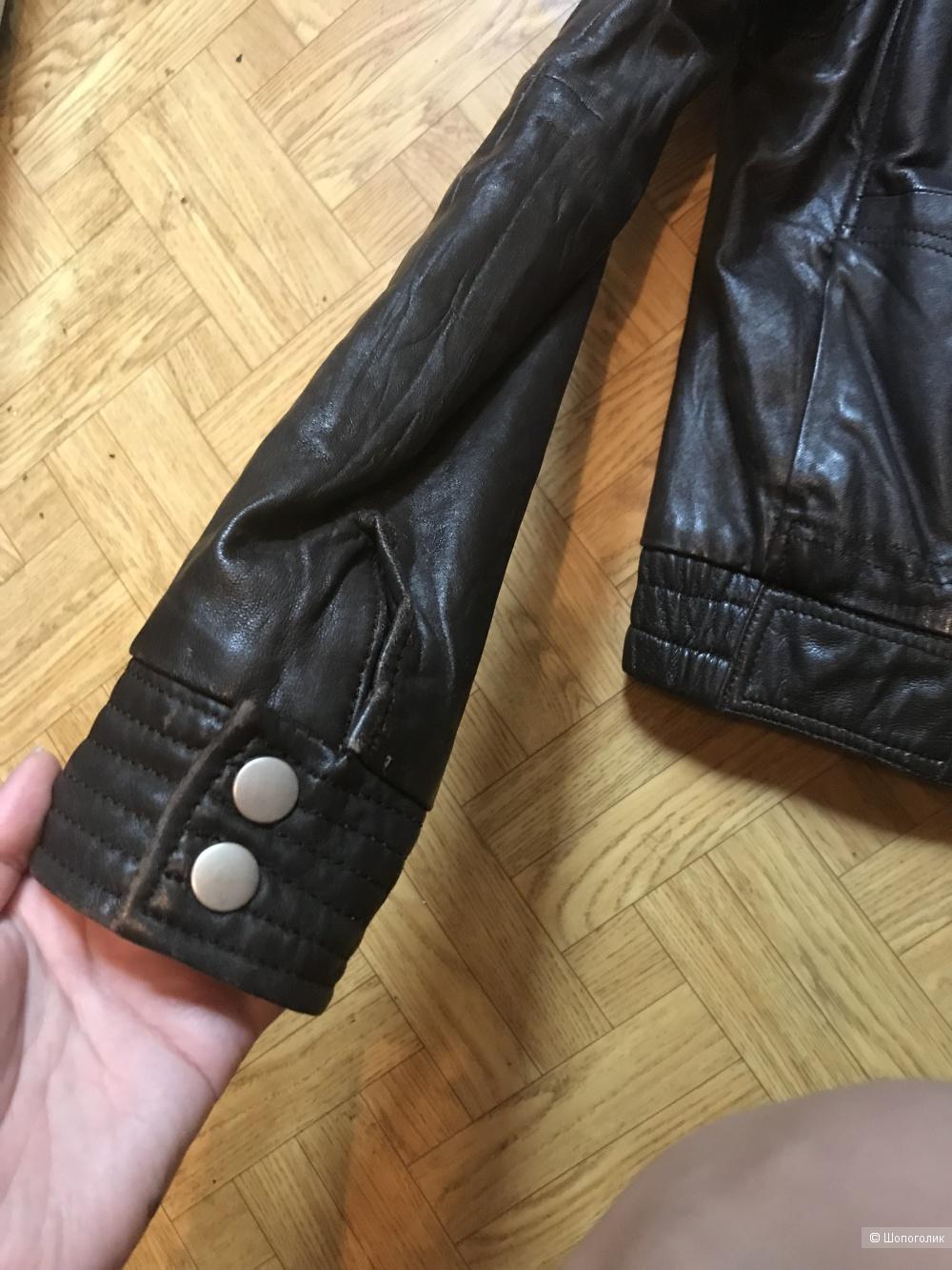 Куртка Zara кожаная,44-46 рус(M)