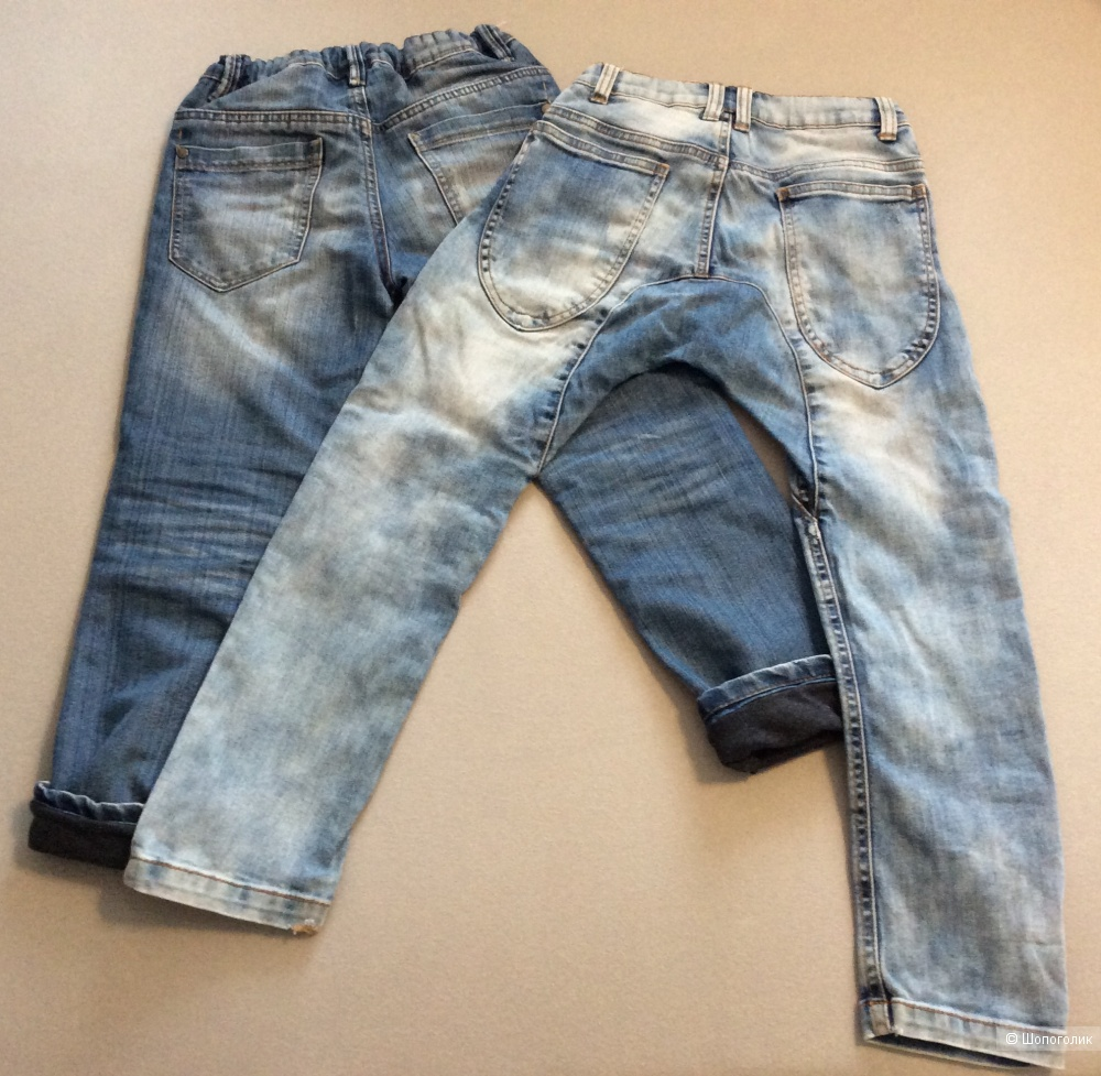 Сет: две пары джинсов р.122-128