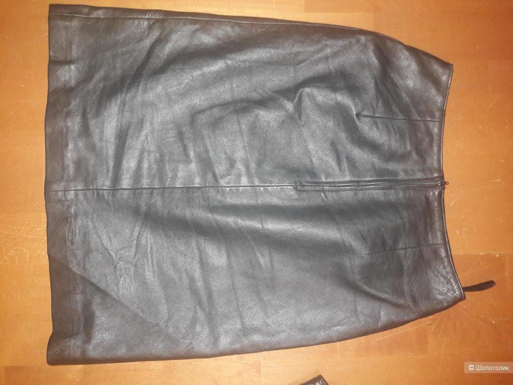 Кожаная юбка Hugo Buscati 42-44 размера