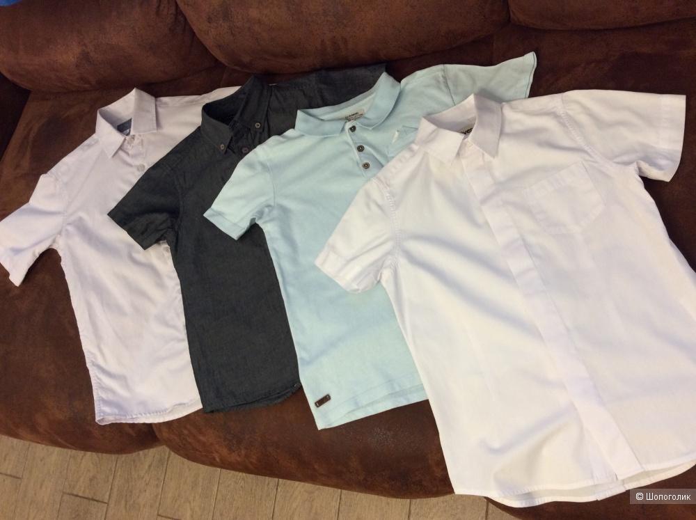 Сет: три рубашки и поло р.122-130