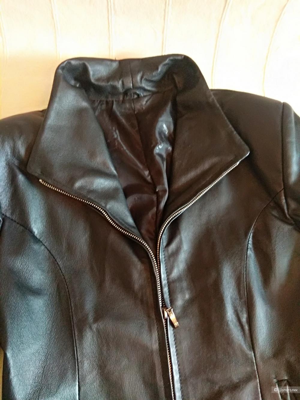 Кожаная куртка no name 42-44 размер