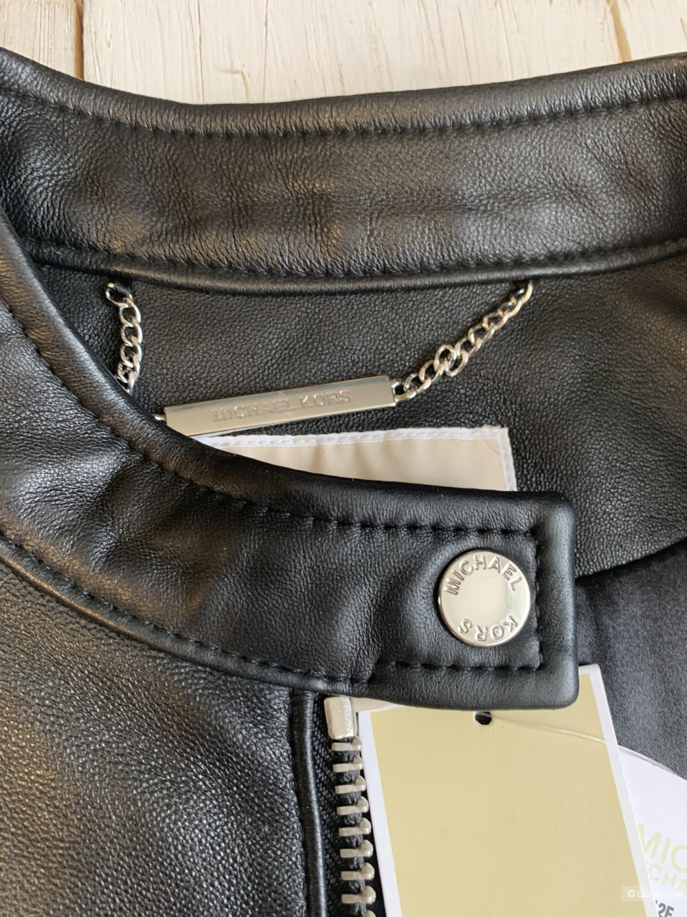 Кожаная куртка Michael Kors р. M