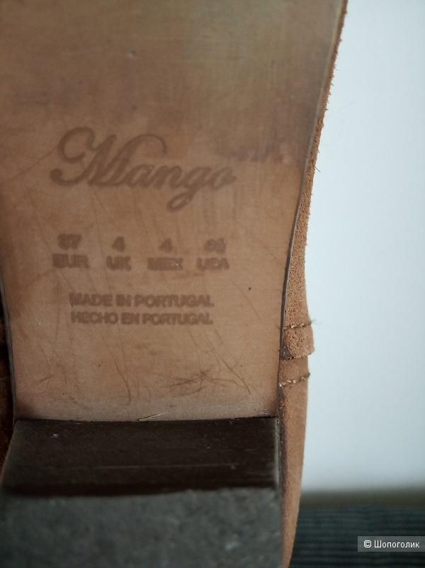 Замшевые казаки Mango 37 р-р