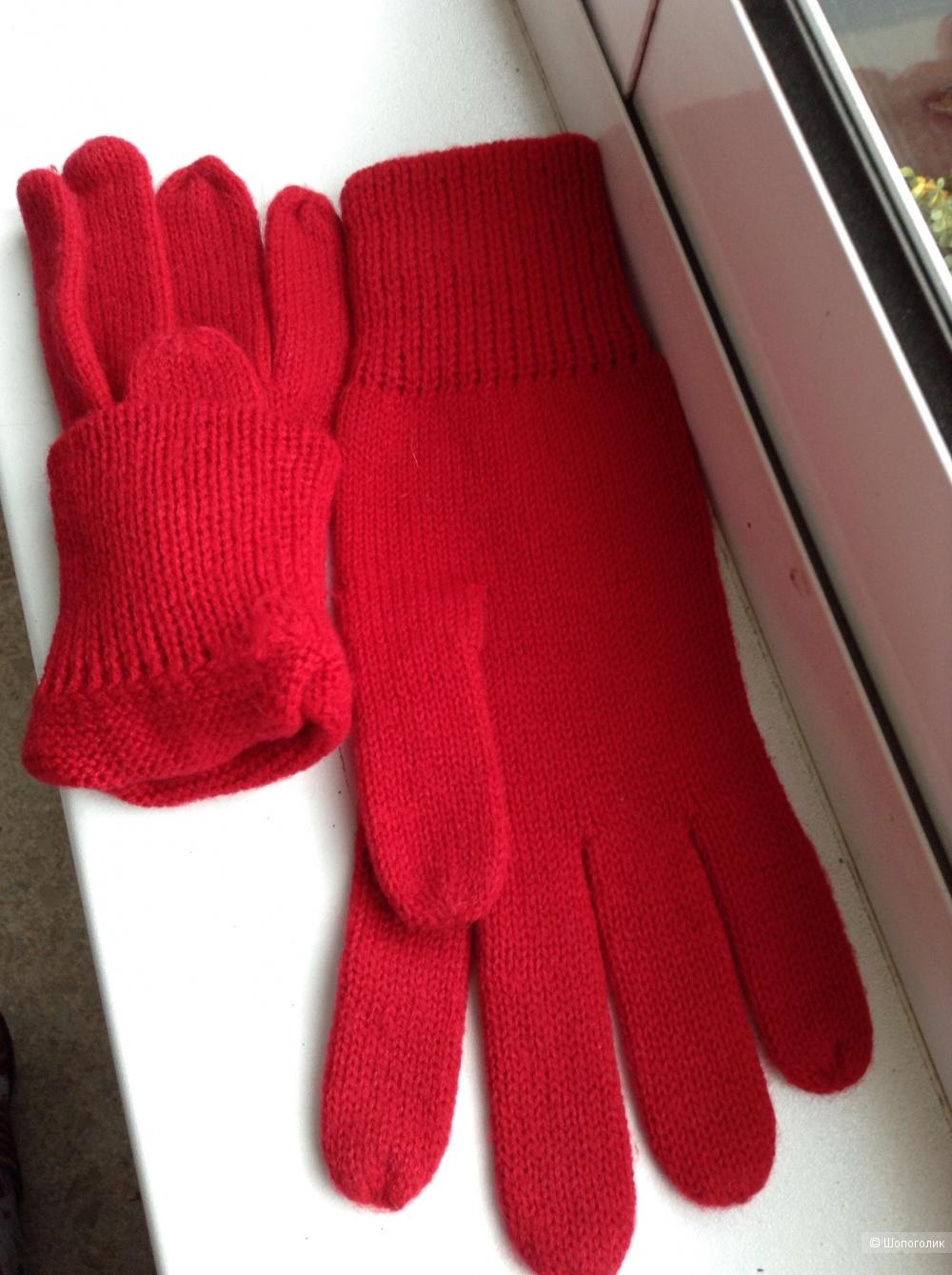Шапка + перчатки, one size
