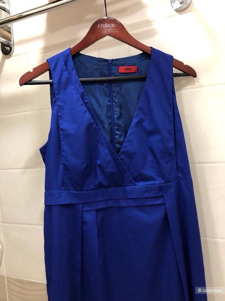 """Платье футляр из хлопка с подкладом """"BOSS HUGO BOSS"""" Размер 44 - 46"""