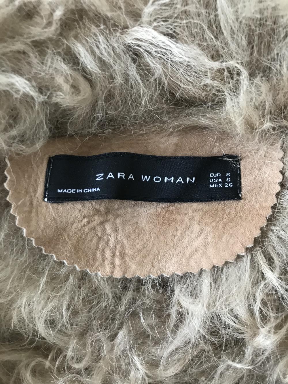 Натуральная дубленка Zara, размер S