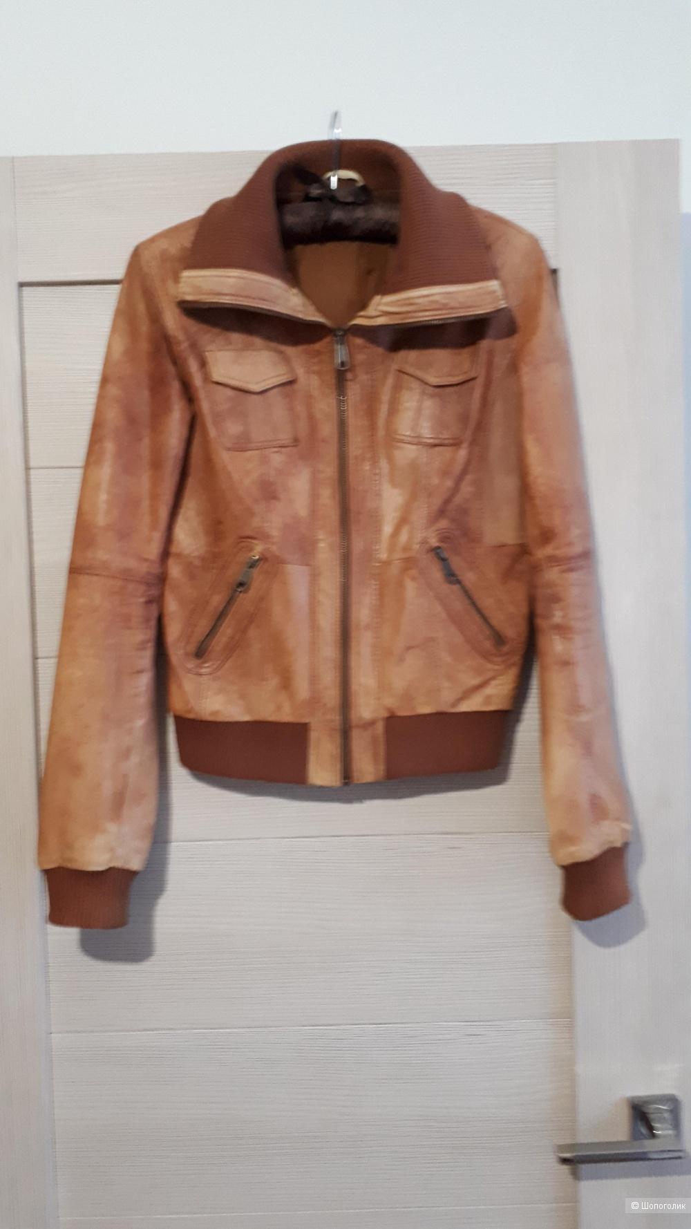Кожаная куртка  бомбер pimkie, 42-44