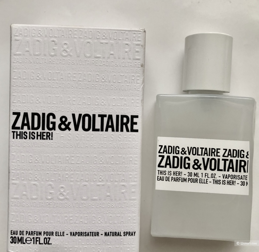 Парфюмерная вода ZADIG&VOLTAIRE,30ml.