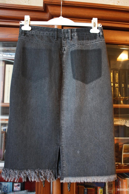 Джинсовая юбка ZARA, размер 44