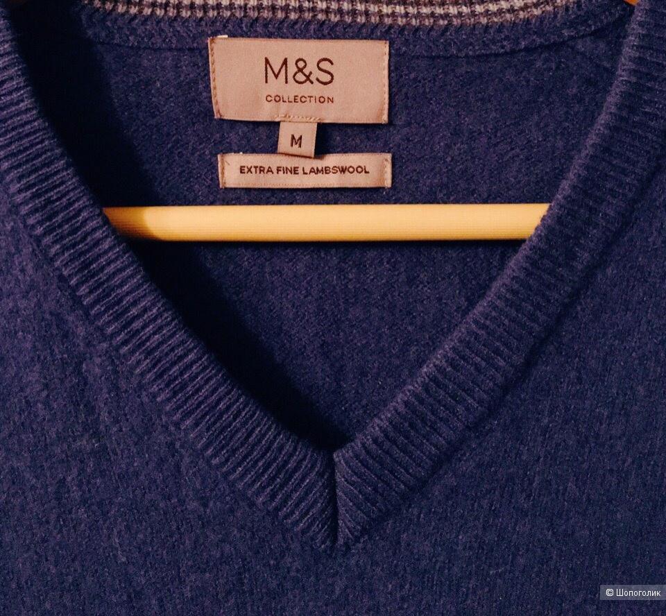 Пуловер Мarks and Spencer размер М цвет темно - голубой