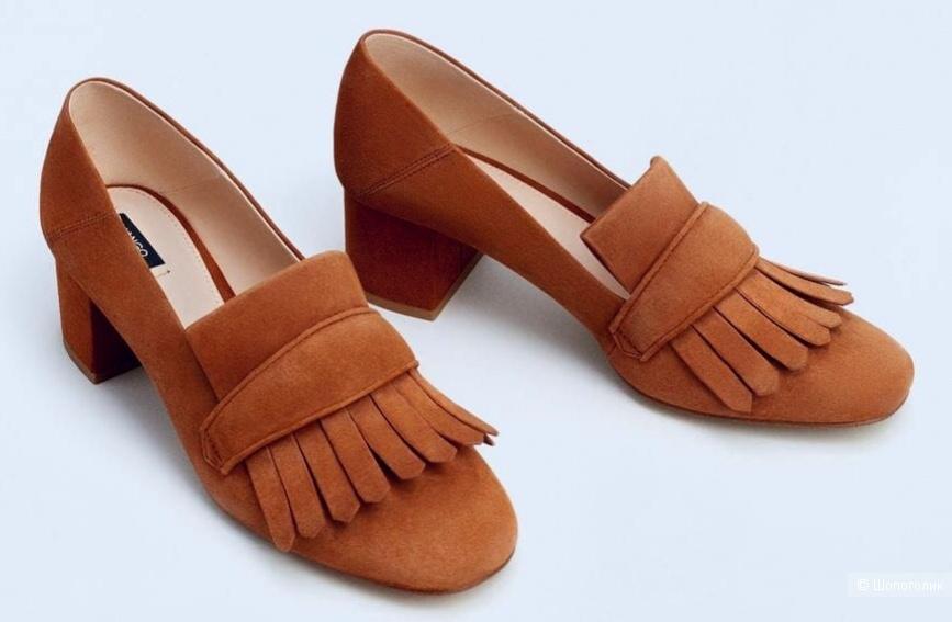 Замшевые туфли Mango р. 40