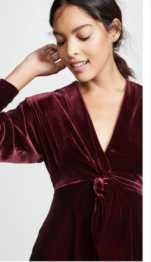 Nicholas платье из шелкового бархата XS-XXS