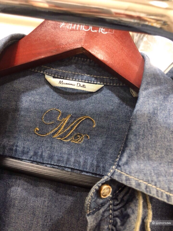 "Джинсовая рубашка  ""Massimo Dutti ""Размер 44-46."