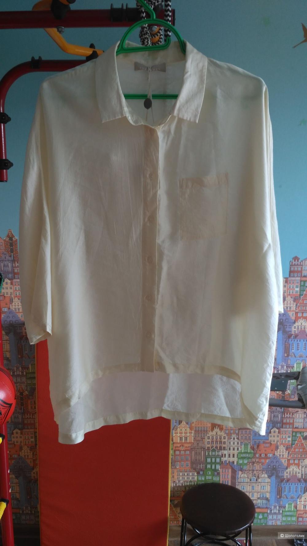 Рубашка Stefanel, размер M (L) молочного цвета