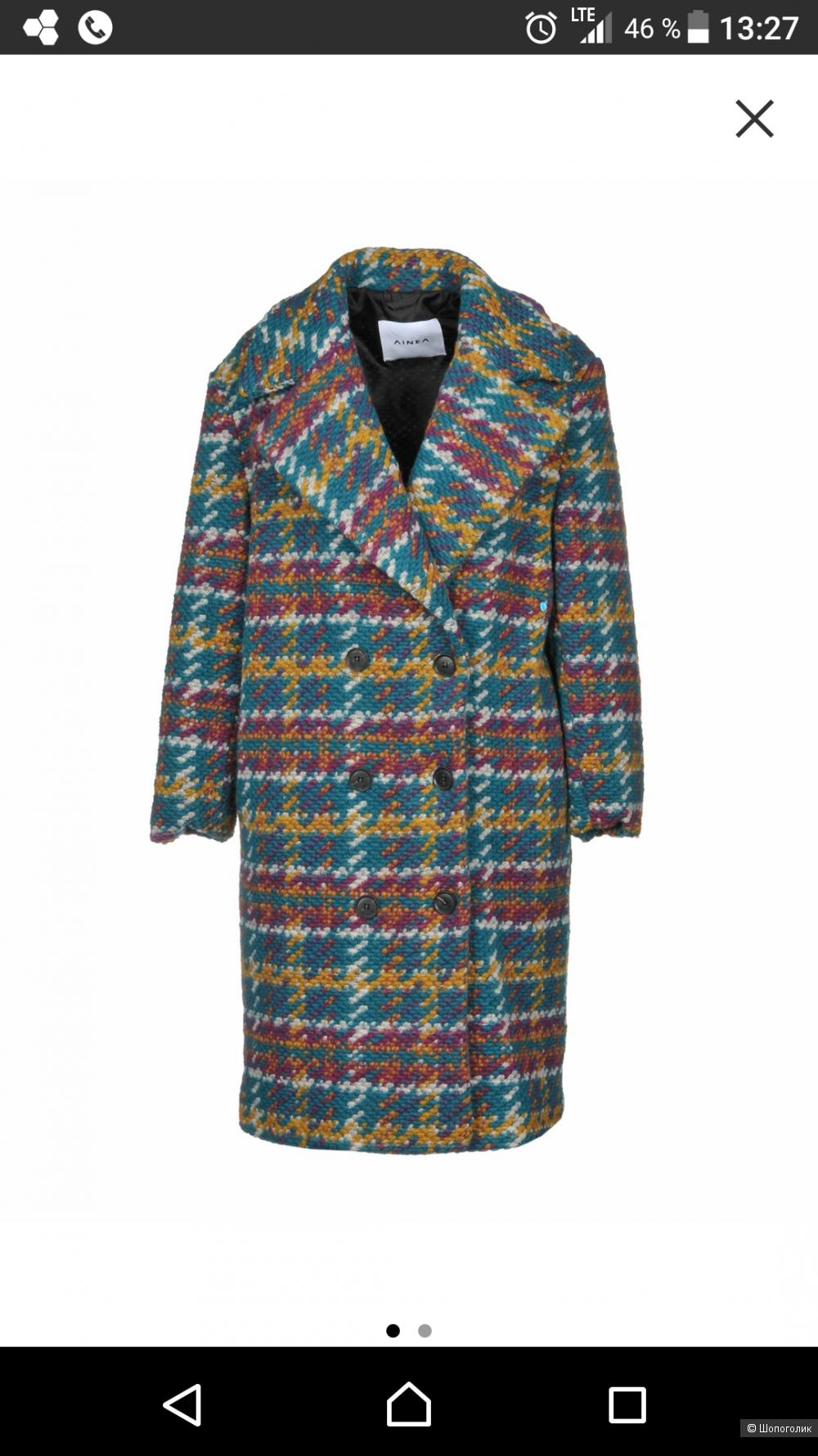 Пальто, AINEA, 40-44, oversize