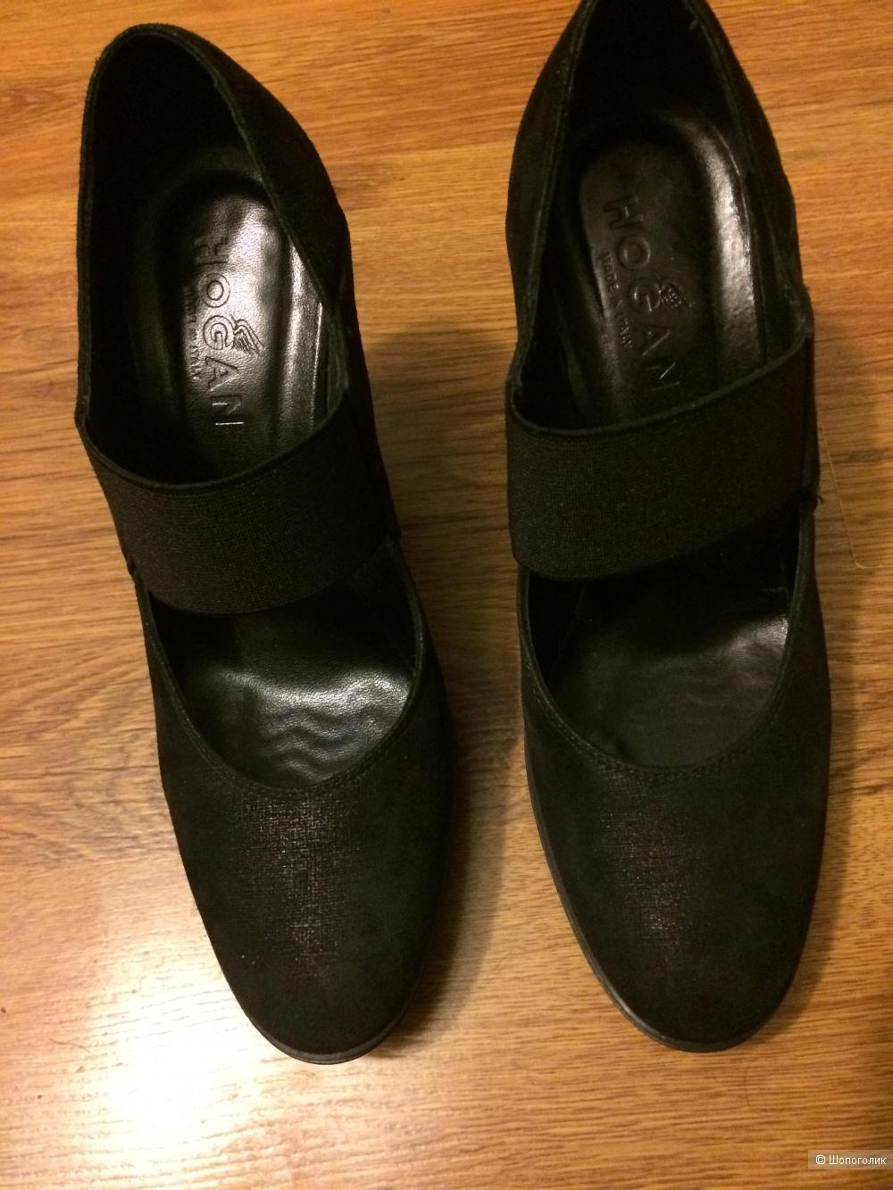 Hogan Туфли 36 1/2  (24.5 см) ЧЕРНЫЕ