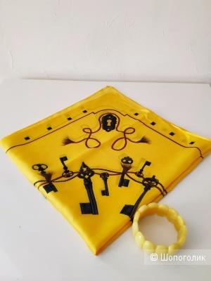 СЕТ Браслет из янтаря и платок-гаврош one size