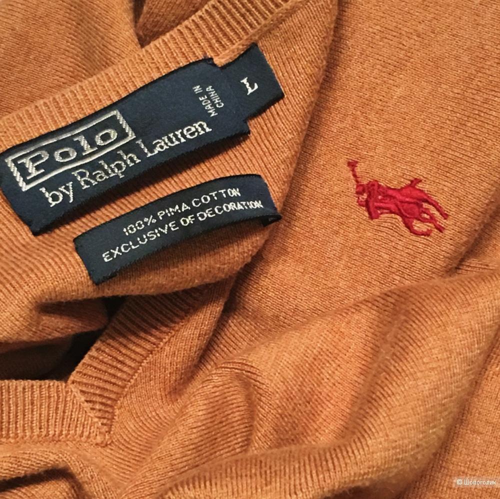 Пуловер Polo by Ralph Lauren размер L цвет песочный