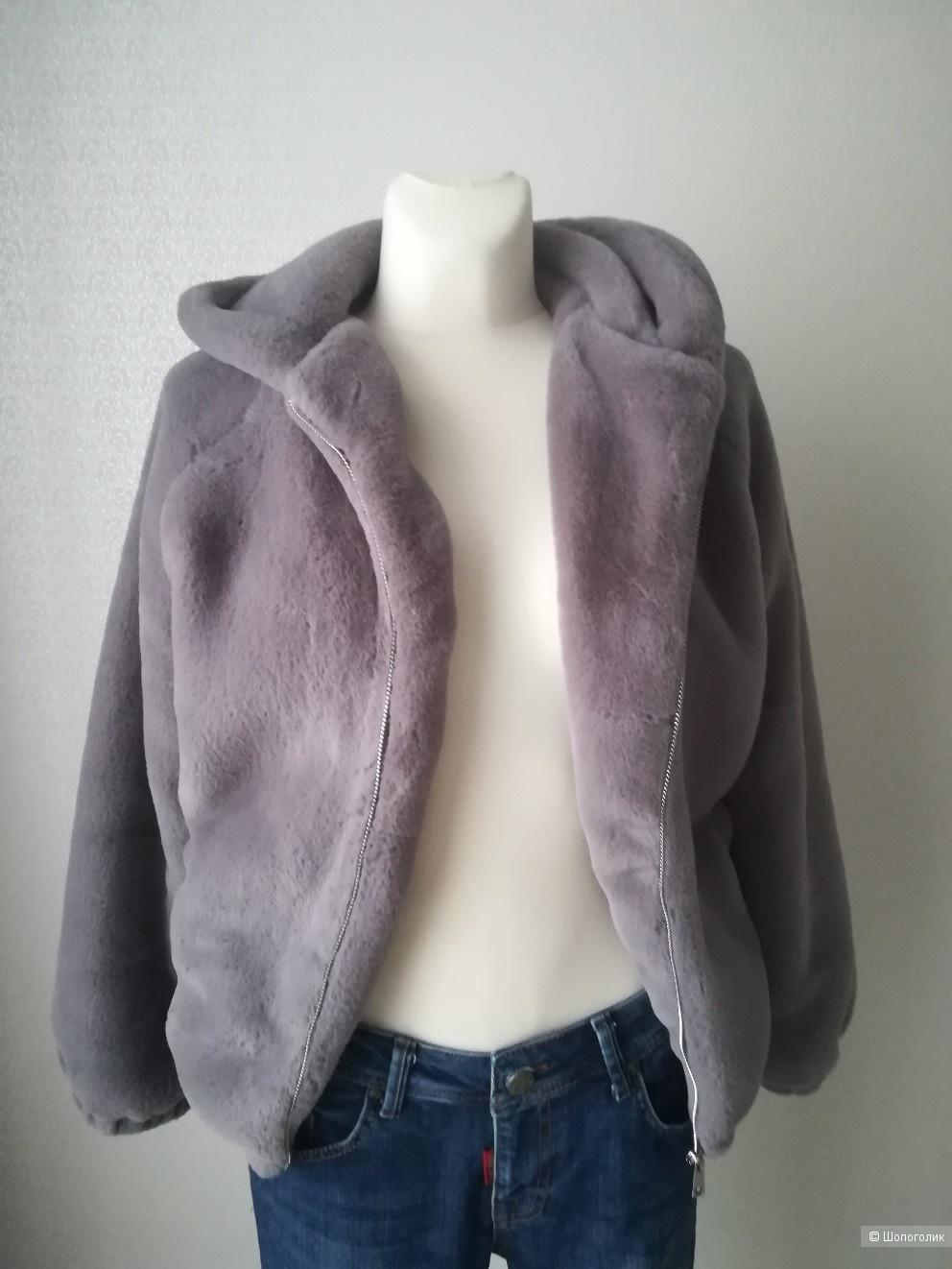 Меховая куртка-шубка no name,размер s/m