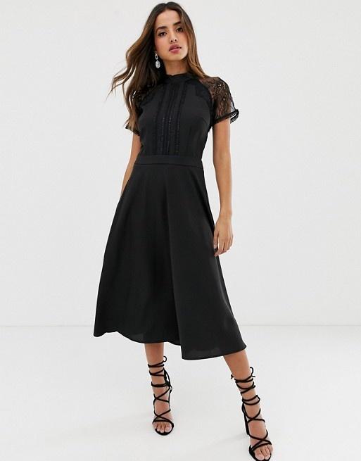 Черное платье-миди ASOS 48-50 р-р