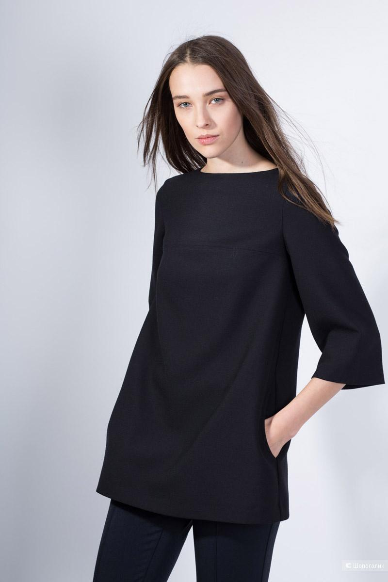Блузка PAROLE by Victoria Andreyanova размер 44 на 44-46-48 темно-синий цвет