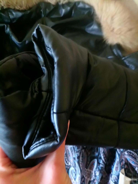 Зимняя куртка из эко кожи 44-46