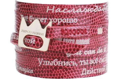 Кожаный браслет - обмотка Mirco Marini