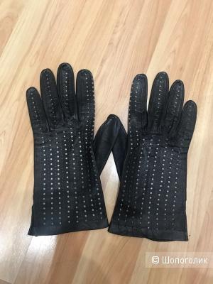 Перчатки лайковые Италия, размер 7-7,5