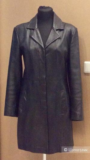 Кожаное пальто/тренч VALI р.14 (на 46-48)