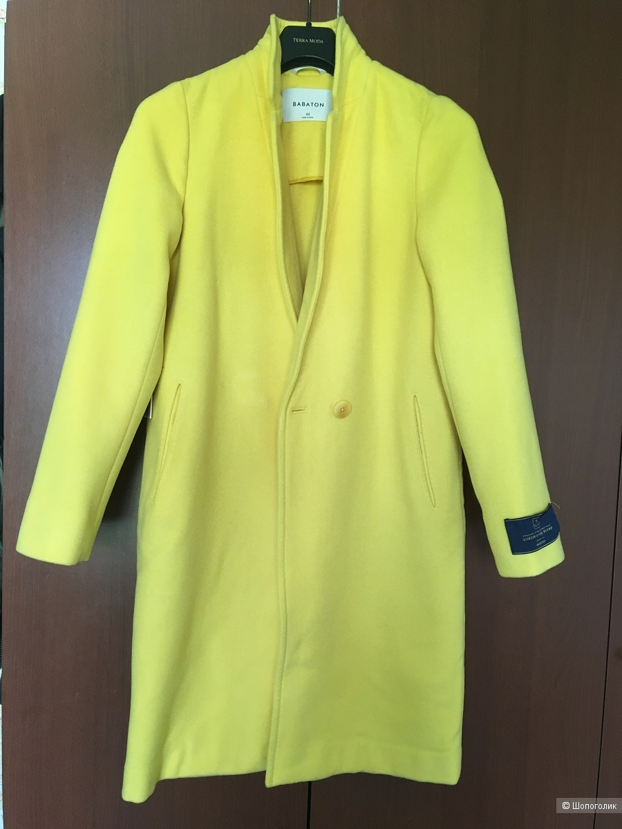 Шерстяное пальто Babaton р-р XS