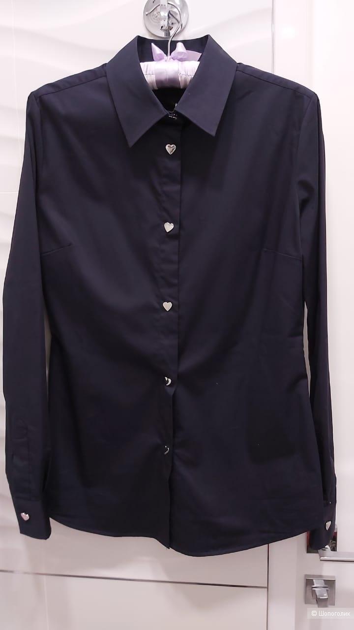 Рубашка синяя Love Moschino, р. 42 IT