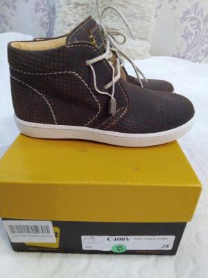 Кожаные ботинки, 28 размер