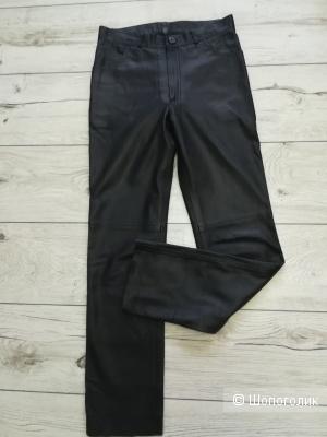 Кожаные брюки Vera pelle,размер 44-46