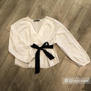 Блуза белая dilivin размер S (по факту free size)