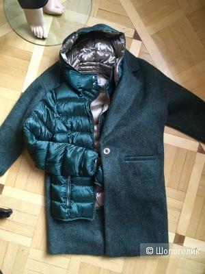 Сет из пальто Zara и итальянского пуховика, 42-44