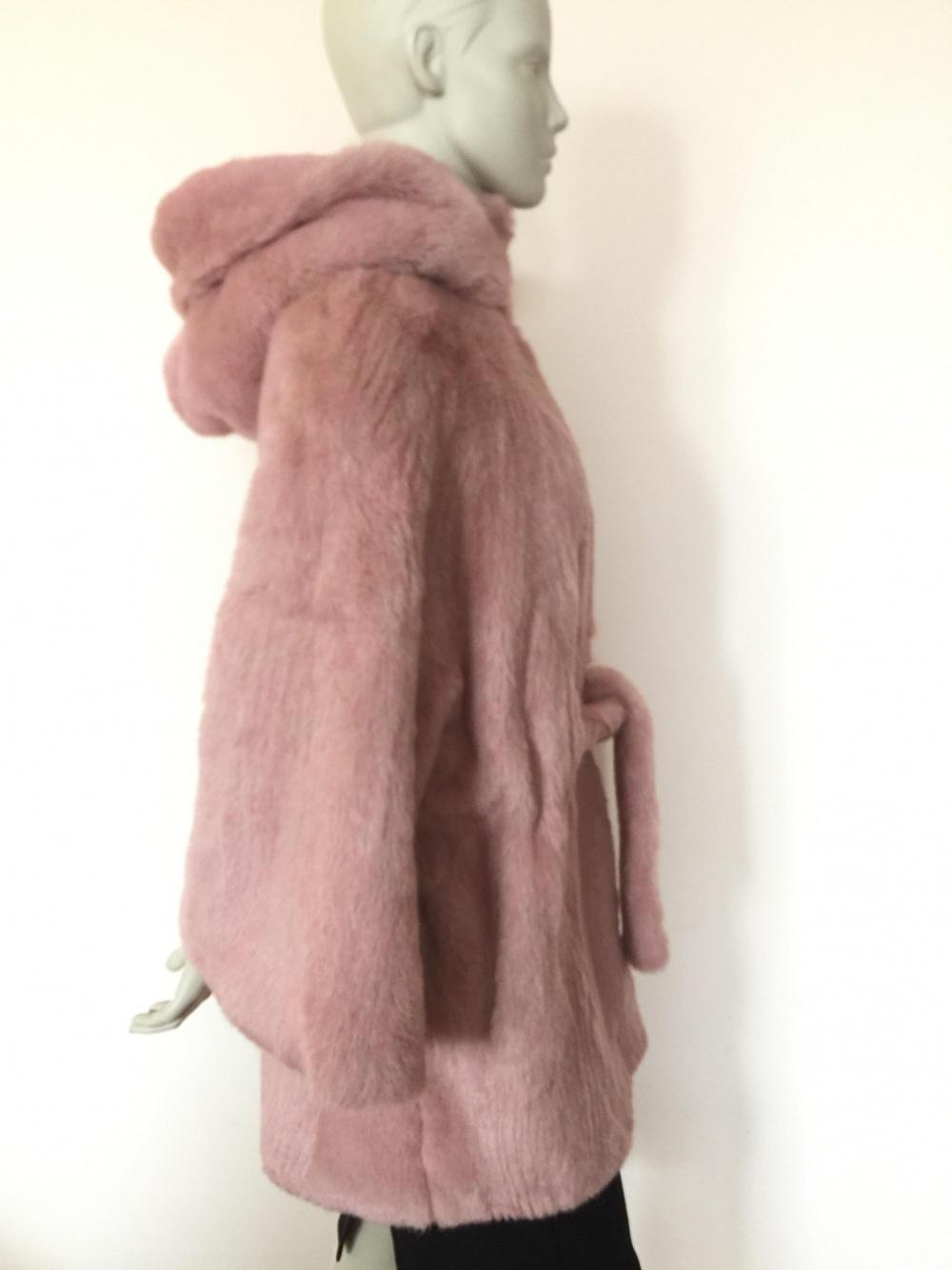Шуба из искусственного меха норки бренд Fashion от M до XL