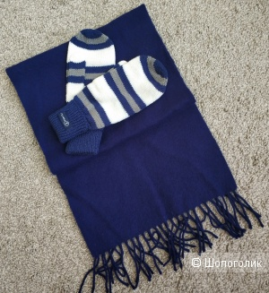 Комплект шарф Uniqlo+варежки Finn Flare, one size.
