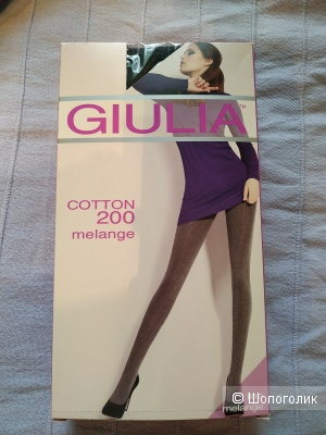 Колготки Giulia Cotton 200 melange размер 4L
