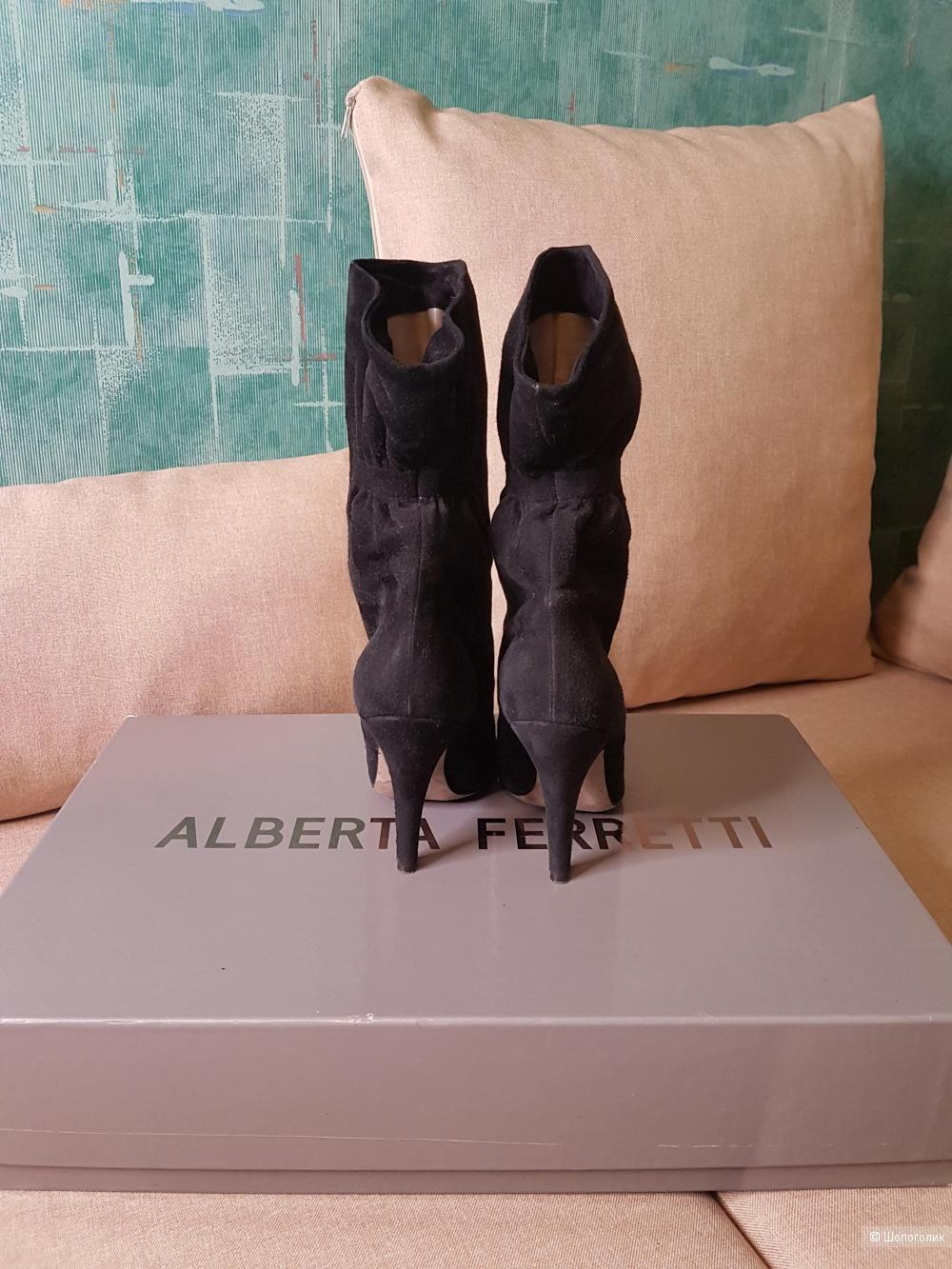 "Замшевые Ботильоны "" Alberta Feretti"", 37 р"