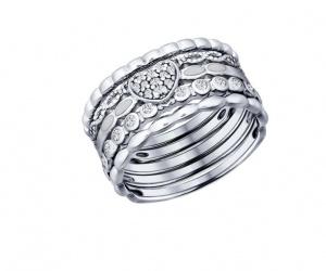 Наборное кольцо ( серебро 925 ) SOKOLOV
