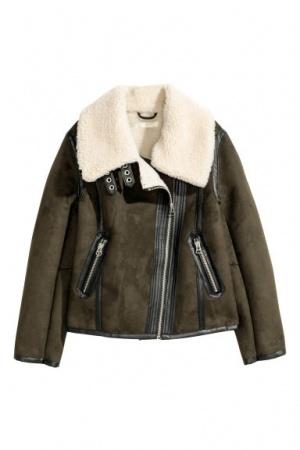 Куртка (дубленка) из искусственного меха h&m, размер EUR 52
