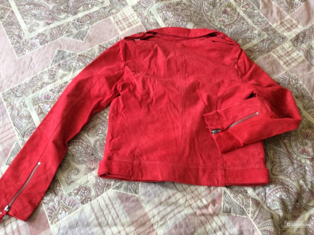 Замшевая куртка—косуха Asos, 8UK, 42-44 размер