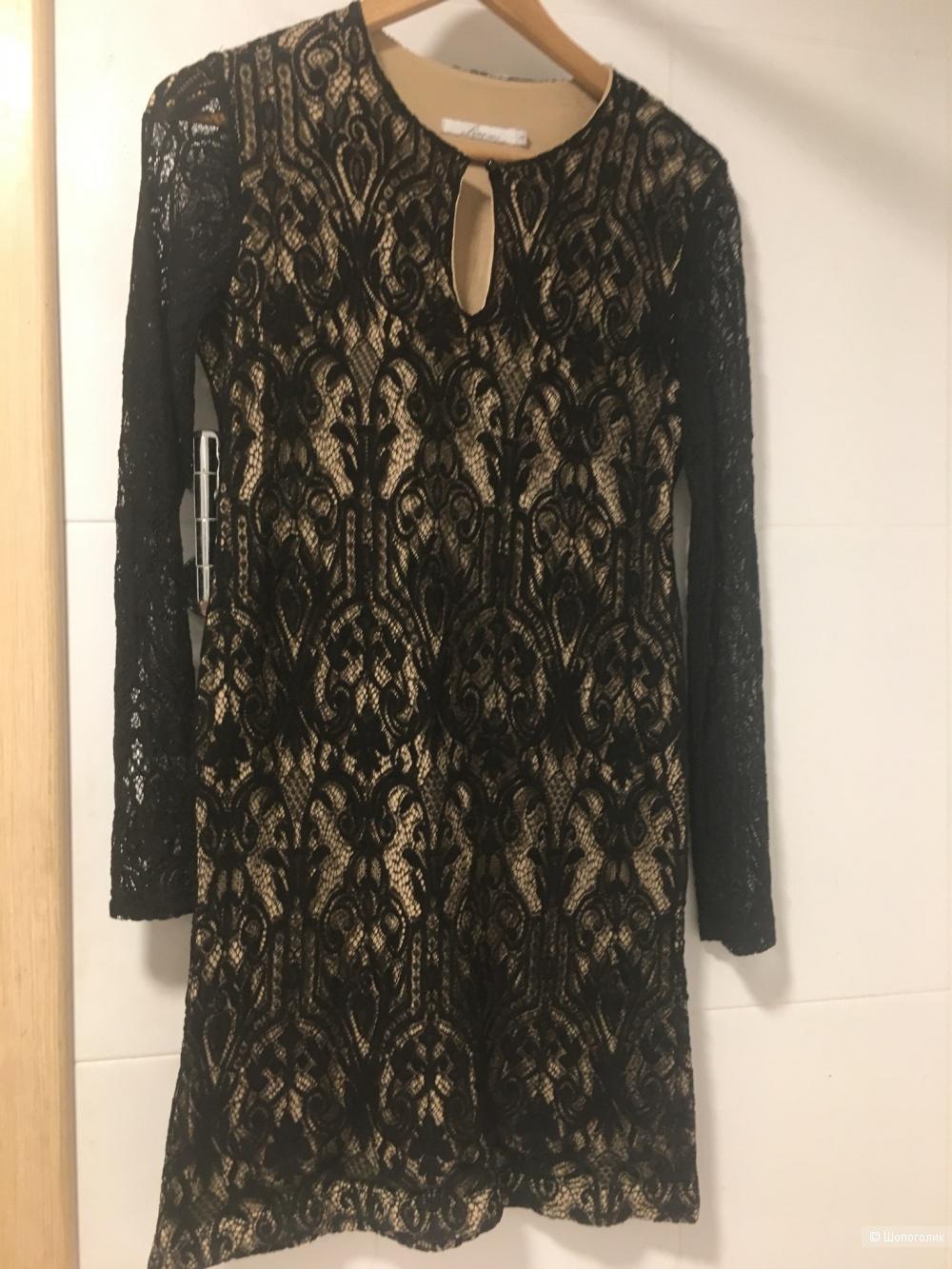 Кружевное платье 46р