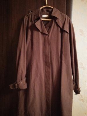 Тренч, Саваж, размер 50, цвет какао