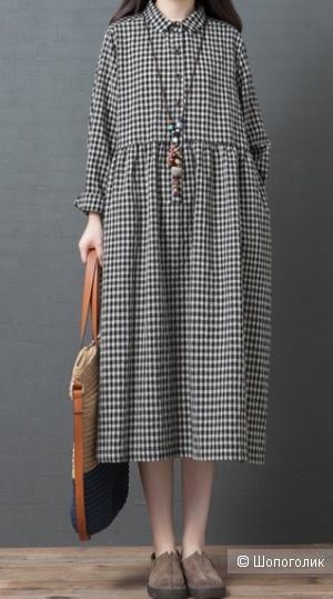 Платье-рубашка, 2XL на 52-54 размер